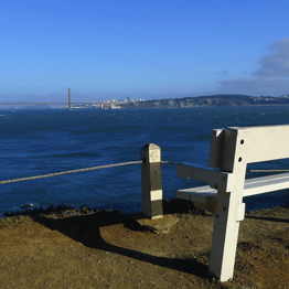 Bench on trail to Point Bonita Lighthouse